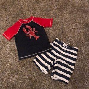 Nautical Theme 2 Piece Toddler Swim Set